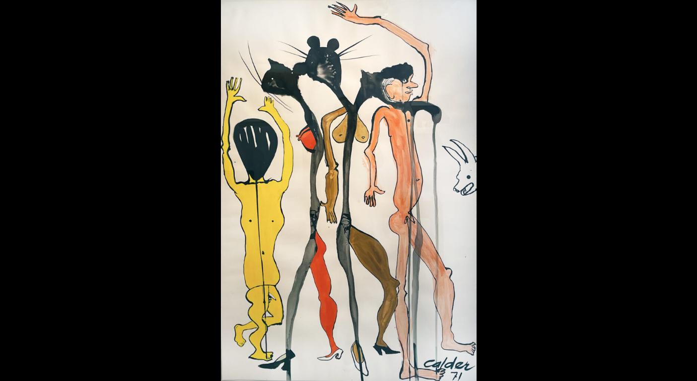 "photo credit to Alexander Calder, ""Cat People"", 1971"