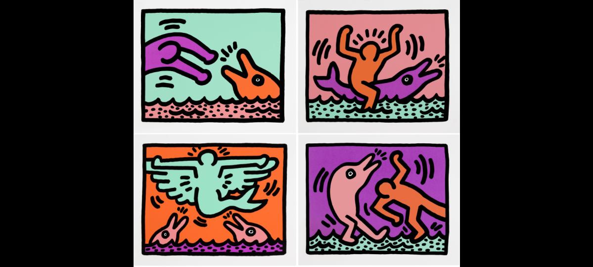 "photo credit to Keith Haring, ""Pop Shop V (Littmann p. 148-149)"", 1989"